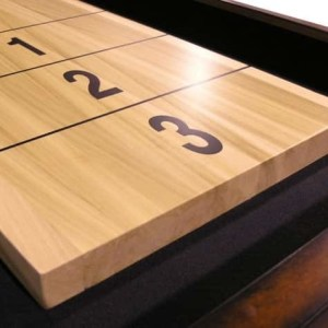 CL Bailey 12 Foot Traditional Warm Chestnut Shuffleboard Table Scoring Detail | moneymachines.com