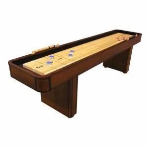 CL Bailey 9 Foot Traditional Warm Chestnut Shuffleboard Table | moneymachines.com