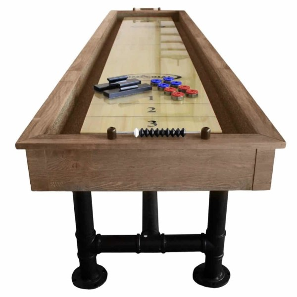 Imperial Bedford Shuffleboard Table | Desert Chestnut End | moneymachines.com