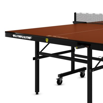 Killerspin MyT5 Mocha Table Tennis Table End Detail | moneymachines.com