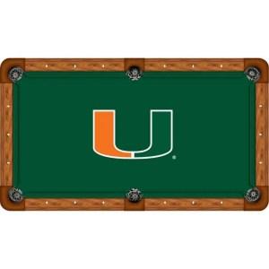 Miami Hurricanes Billiard Table Cloth | moneymachines.com