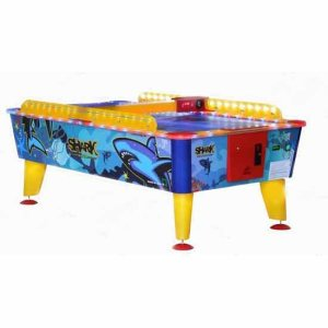 Shark Coin Operated Weatherproof Outdoor Air Hockey Table | moneymachines.com
