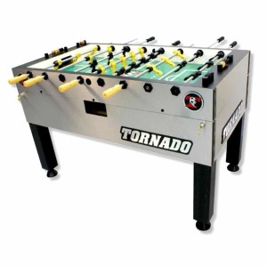 Tornado Tournament 3000 Foosball Table | Silver 1 Man Goalie | moneymachines.com