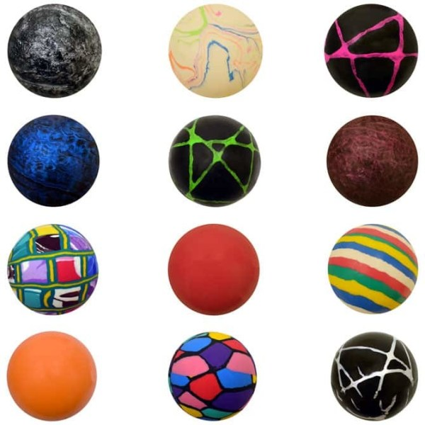 45mm (1 3/4 inch) Assorted Mixed High Bounce Super Balls - 400 Count Case | moneymachines.com