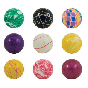 60mm (2.36 inch) Assorted Mixed High Bounce Super Balls - 150 Count Case | moneymachines.com