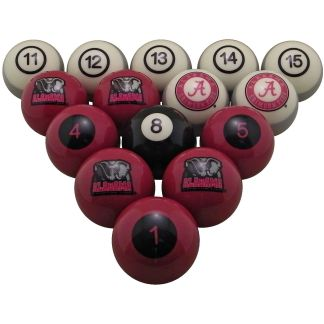 College Logo Billiard Balls | moneymachines.com