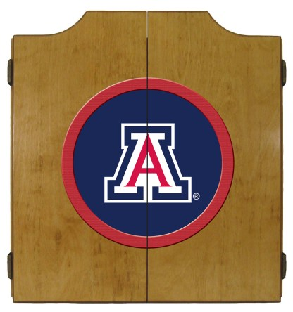 Arizona Wildcats College Logo Dart Cabinet   moneymachines.com