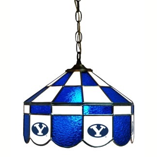 Brigham Young Cougars Stained Glass Swag Hanging Lamp | moneymachines.com