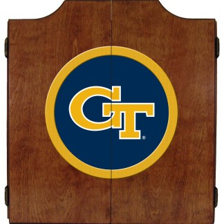Georgia Tech Yellow Jackets College Logo Dart Cabinet | moneymachines.com