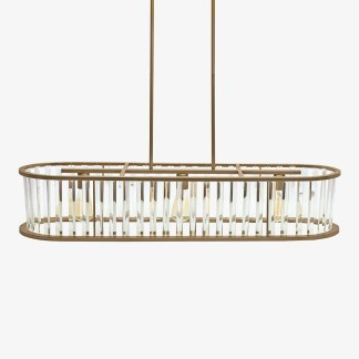 LP-583 HJ Scott Vintage Brass with Glass Fringe Billiard Table Light | moneymachines.com