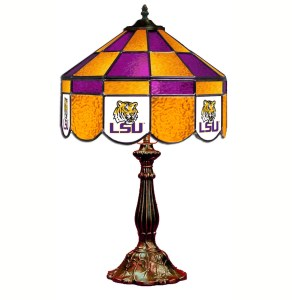 LSU Tigers Stained Glass Table Lamp | moneymachines.com
