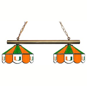 Miami Hurricanes Stained Glass Game Table Lamp | moneymachines.com