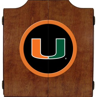 Miami Hurricanes College Logo Dart Cabinet | moneymachines.com