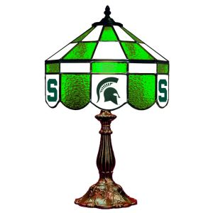 Michigan State Spartans Stained Glass Table Lamp | moneymachines.com