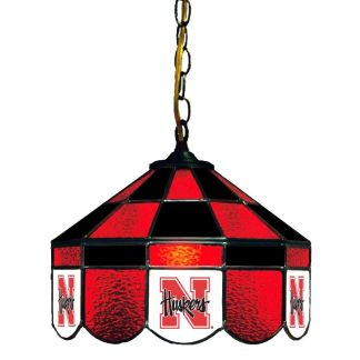 Nebraska Cornhuskers Stained Glass Swag Hanging Lamp | moneymachines.com