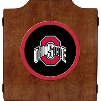 Ohio State Buckeyes College Logo Dart Cabinet | moneymachines.com