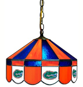 Florida Gators Stained Glass Swag Hanging Lamp | moneymachines.com