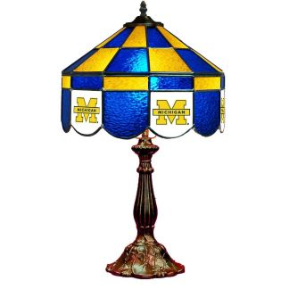 Michigan Wolverines Stained Glass Table Lamp   moneymachines.com