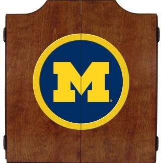 Michigan Wolverines College Logo Dart Cabinet   moneymachines.com