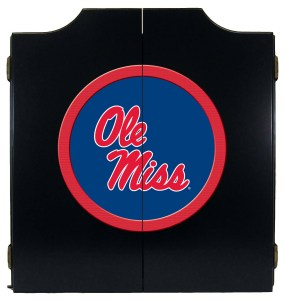 Ole Miss Rebels College Logo Dart Cabinet | moneymachines.com