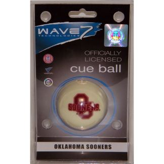 Oklahoma Sooners Billiard Cue Ball | moneymachines.com