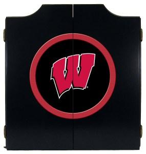 Wisconsin Badgers College Logo Dart Cabinet | moneymachines.com