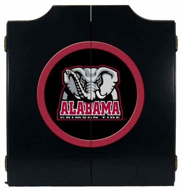 Alabama Crimson Tide College Logo Dart Cabinet | moneymachines.com