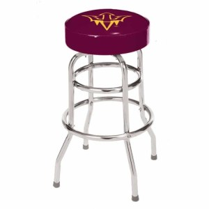 Arizona State Sun Devils College Logo Double Rung Bar Stool | moneymachines.com