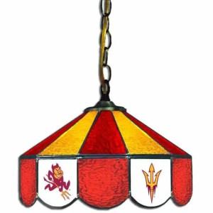 Arizona State Sun Devils Stained Glass Swag Hanging Lamp | moneymachines.com