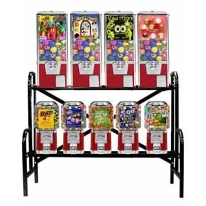 Big Pro 9 Unit Combo Vending Machine Rack Stand | moneymachines.com