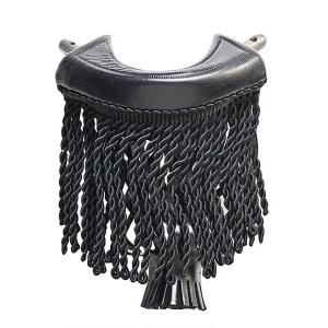 Black Leather With Black Fringe 6 Iron Pool Table Pockets | moneymachines.com