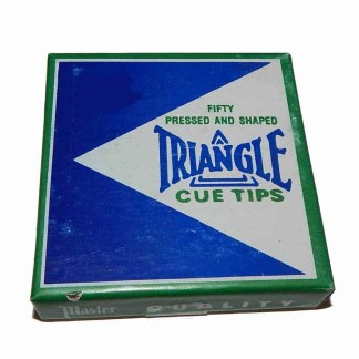 Box of 50 Replacement 12 MM Triangle Glue-On Cue Tips | moneymachines.com