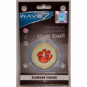 Clemson Tigers Billiard Cue Ball   moneymachines.com