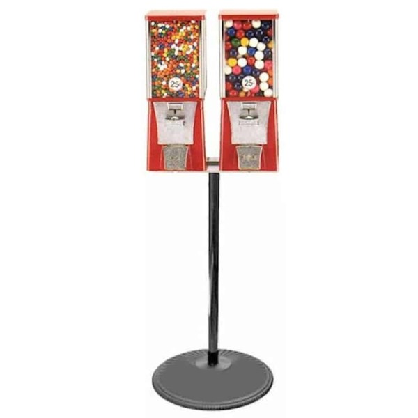 Double Eagle Cabinet Vending Machines on Black Pipe Stand   moneymachines.com