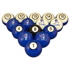 Duke Blue Devils Billiard Ball Set | moneymachines.com