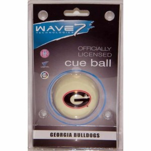 Georgia Bulldogs Billiard Cue Ball | moneymachines.com