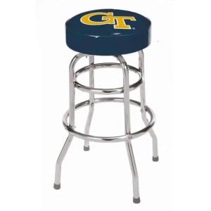 Georgia Tech Yellow Jackets College Logo Double Rung Bar Stool | moneymachines.com