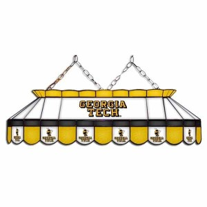 "Georgia Tech Yellow Jackets MVP 40"" Tiffany Stained Glass Pool Table Lamp 