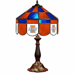 Illinois Fighting Illini Stained Glass Table Lamp | moneymachines.com