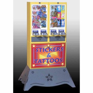 Impulse 4 Column Sticker Tattoo Vending Machine With Deluxe Base | moneymachines.com