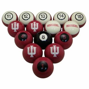 Indiana Hoosiers Billiard Ball Set | moneymachines.com