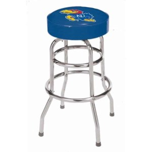 Kansas Jayhawks College Logo Double Rung Bar Stool | moneymachines.com