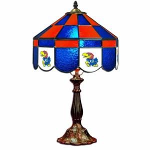 Kansas Jayhawks Stained Glass Table Lamp | moneymachines.com