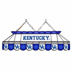 "Kentucky Wildcats MVP 40"" Tiffany Stained Glass Pool Table Lamp 