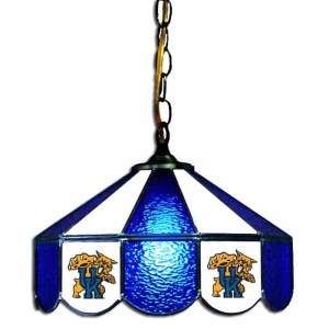 Kentucky Wildcats Stained Glass Swag Hanging Lamp   moneymachines.com