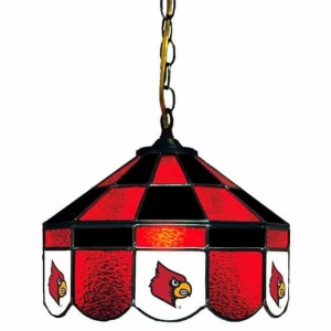 Louisville Cardinals Stained Glass Swag Hanging Lamp | moneymachines.com