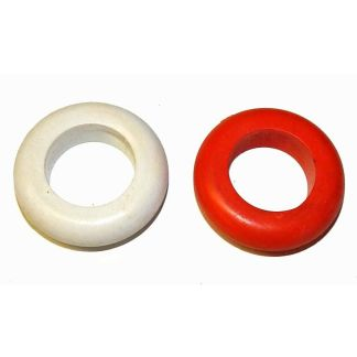 Set of 2 Mini Size Bumper Pool Table Bumper Rings - Red and White | moneymachines.com
