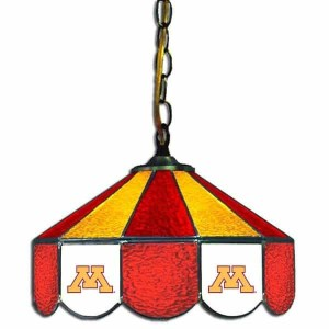 Minnesota Golden Gophers Stained Glass Swag Hanging Lamp | moneymachines.com