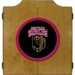 Montana Grizzlies College Logo Dart Cabinet | moneymachines.com