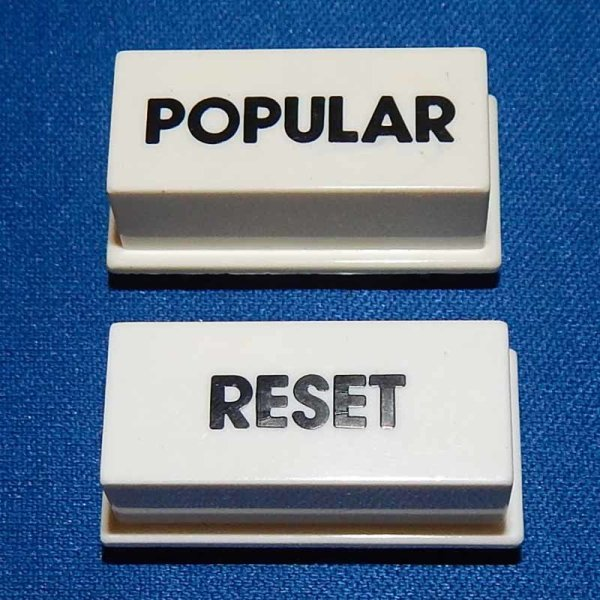 New Rowe/AMI Jukebox Popular/Reset Push Button Set | moneymachines.com